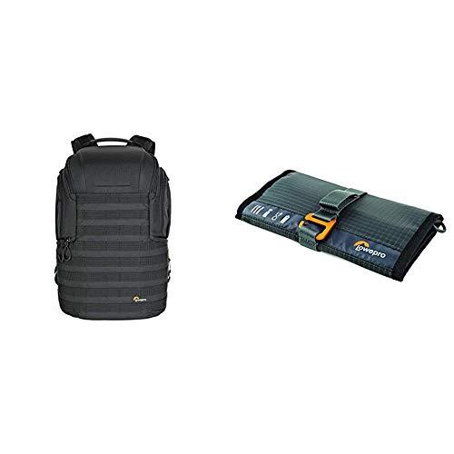 Lowepro LP37177-PWW Protactic Rucksack 450 AW II (mit Allwetterüberzug für Laptops/Tablets bis zu 15 Zoll), schwarz & GearUp Wrap: Compact Travel Organizer for Phone Cables, Adapters