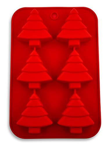 Pritogo Tannenbaum Silikonform, Weihnachten, Backform, Advent, Schnee, Stern, Christkind, BPA-Frei
