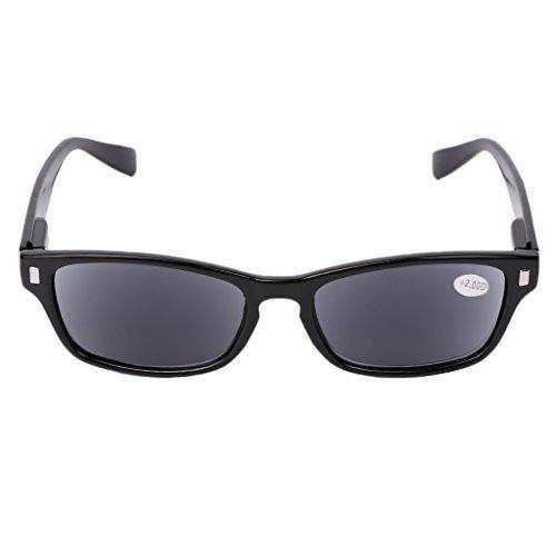 Fogun Lesebrillen, die überall haften, Sie überall begleiten, Sonnenbrillen Lesebrill Lightweight +1,0 +1,5 +2,0 +2,5, 3,0,+3,5 (Schwarz, 2.0)