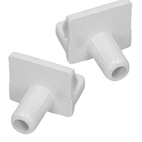 SPARES2GO Shelf Support Clip voor Siemens Koelkast Vriezer (Pak van 2, Wit) Fitment List D