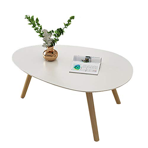 ZWJLIZI Coffee Table, Nordic Solid Wood Table with Legs (H45cm), Bedroom Leisure Table/Study Table, Small Apartment Sofa Side Table (Color : B, Size : 100x60x45cm)