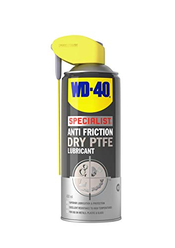WD-40 Specialist, Anti Friction Dry PTFE Lubricant with Smart Straw, Non-Stick Resists Dust, Dirt & Oil, 400ml