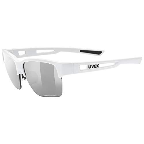 uvex Unisex– Erwachsene, sportstyle 805 V Sportbrille, selbsttönend, white/smoke, one size