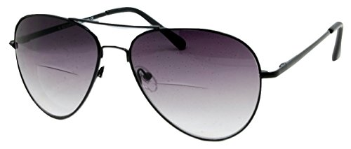 In Style Eyes C.Moore Bifocal Aviator Sunglasses for Women and Men Pewter 2.00