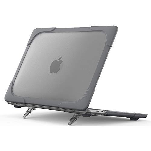 PZOZ Coque pour 2020 2019 2018 MacBook Air 13 Pouces(A2337 M1/ A2179/ A1932), Case Rigide Étui pour Nouveau 2020 2019 2018 MacBook Air 13.3 Retina avec Touch ID (Gris)