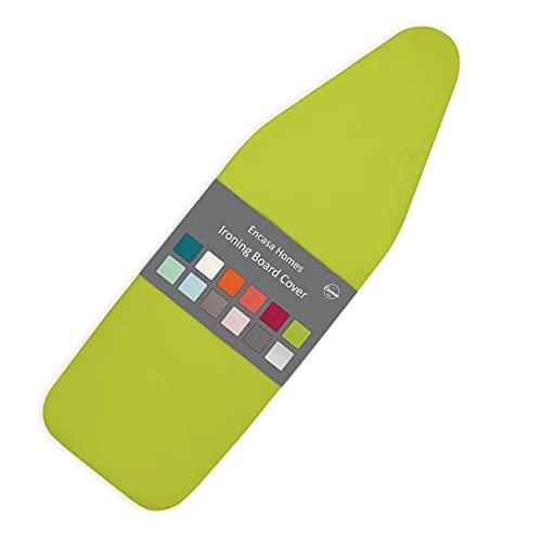 Encasa Homes Funda para Tabla de Planchar de con Almohadilla de Fieltro Gruesa de 4 mm - Lime Green - Algodón, elástico, (Se Ajusta a Las Tablas estándar de Grandes de 122 x 38 cm)
