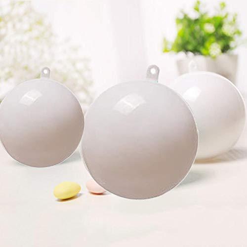 Wonderday 8 cm kleurrijke kerstbal PS zeer transparante milieuvriendelijke holle hangende bal innovatieve huwelijk Candy Box wit advantageous