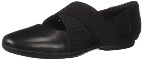 Price comparison product image CLARKS Women's Gracelin Shea Ballet Flat,  Black Leather,  7.5 M US