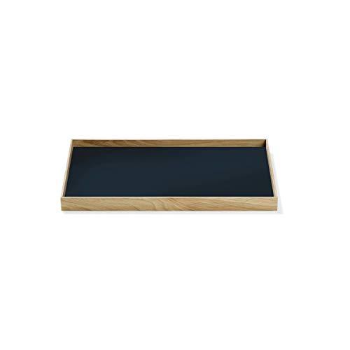Gejst Frame Tablett Medium Eiche Blau - Perfekte Aufbewahrungslösung - Einfache Montage Mit Magnet - Mühelos Austauschbar - Skandinavisches Design, 34 x 23,2 x 2,2cm