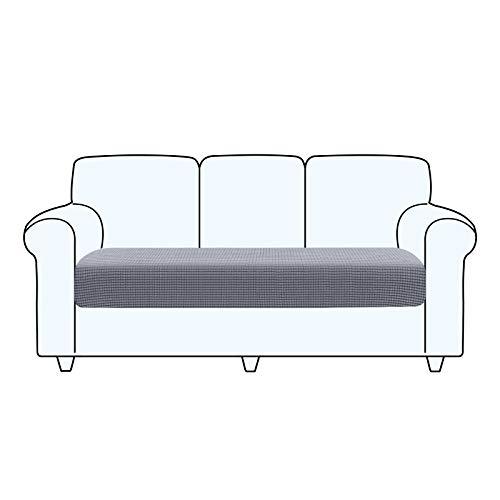 TAOCOCO Fundas de cojín para sofá,Protector de cojín de Asiento de Tela de poliéster de Alta Elasticidad (Gris Claro, 3 Asientos)