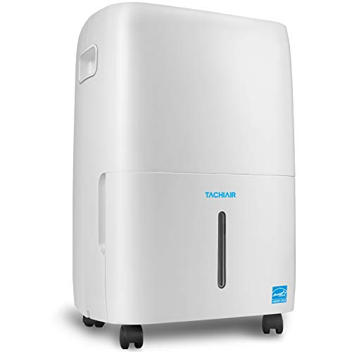 TACHIAIR 70-pint Dehumidifier with Pump, Energy Star Rated for Basements, Intelligent Humidity Control, Auto Shutoff/Restart, 3 Fan Speeds and Easy Roll Wheels(50 pint New DOE)