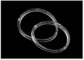 Small Hair Elastics - 15mm STRONG - REUSEABLE Clear, for Hair Ties, Braiding and Ponytails, Pack of 200 by ElasticU
