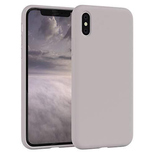 EAZY CASE Premium Silikon Handyhülle kompatibel mit Apple iPhone XS Max, Slimcover mit Kameraschutz und Innenfutter, Silikonhülle, Schutzhülle, Bumper, Handy Case, Hülle, Softcase, Rosa Braun