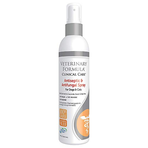 synergylabs Clinical Care Antiseptic Veterinär Formel & Antifungal Spray für Hunde und Katzen; 8 FL. oz