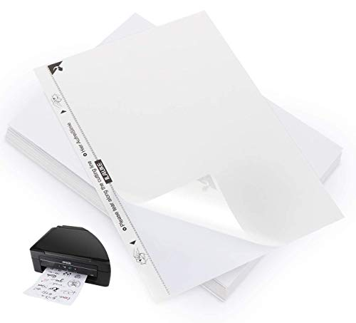 ilauke Universal Etiketten (DIN A4 210 x 297 mm) 80 Aufkleber Selbstklebend Bedruckbar, Weiß, 80 Stück