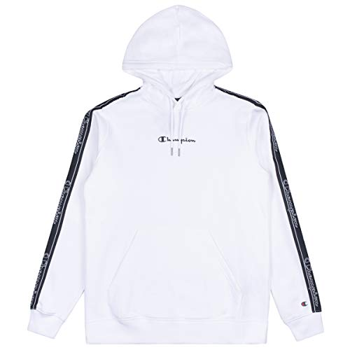 Champion Herren Men's Seasonal Tape Hooded Sweatshirt Kapuzenpulli, Weiß (WW001), X-Large