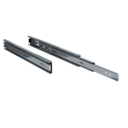 TCH Hardware 16' Inch 100 LB Steel Full Extension Ball Bearing Drawer Slides - Kitchen Cabinet Desk Draw
