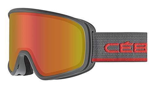 Cébé Striker Evo skibrillen, unisex, volwassenen, mat, grafiet rood, Large