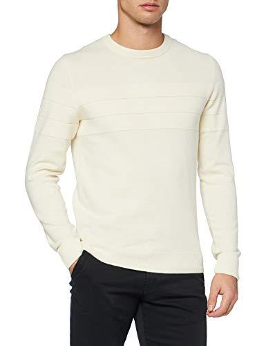 JACK & JONES Herren JJSAILOR Knit Crew Neck NO Buttons Pullover, Cloud Dancer, XXL