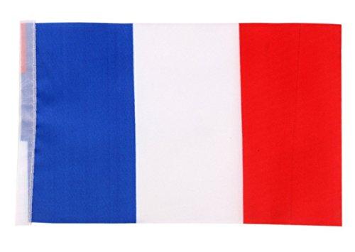 Vikenner Drapeau national - Coupe du monde 2018 - Drapeau de football en polyester durable - France