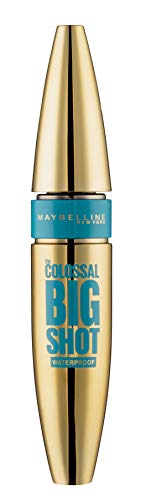 Maybelline New York Mascara für Volumen, Wasserfest, Volum'Express The Colossal Big Shot, Leather Black Waterproof, 9,5 ml