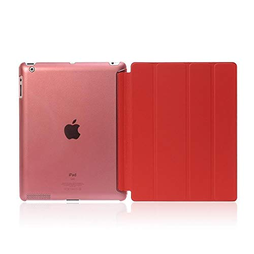 RZL PAD & TAB cases For iPad Pro 9.7 9.7'', Ultra-thin Slim Tablet Case Flip Magnetic Folding PVC A1673 A1674 Smart Case for iPad Pro 9.7 (Color : Red)