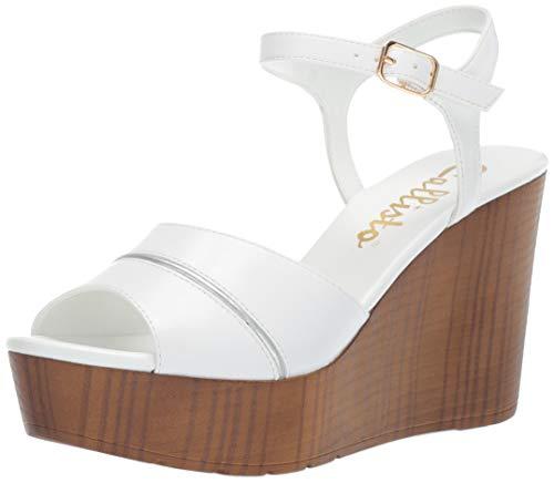 Callisto Women's MASALLA Wedge Sandal, White, 6 M US