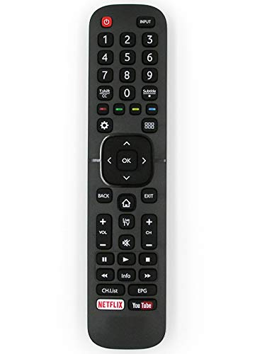 Ersatz Fernbedienung for Hisense TV LHD32K15CSEU LTDN40K321UWTS LTDN40K321UWTSEU LTDN40K321UWTSEU(1) LTDN50K320UWTSEU LTDN50K321