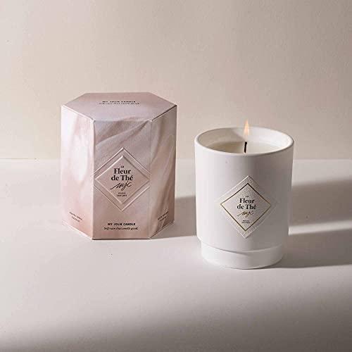My Jolie Candle, candela profumata con gioiello all'interno, collana in argento, 50 ore, cera 100% naturale vegetale, 250 g