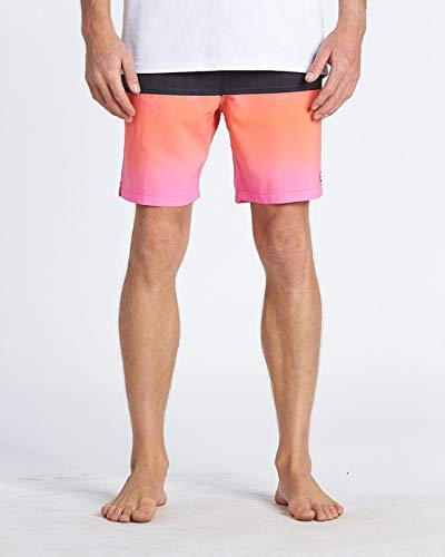 "BILLABONG™Fifty50 Laybacks 17"" - Elastic Waist Board Shorts - Men - M - Pink"