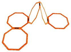 Set of 12 versatile, and highly visible large Octa Speed Rings. Supplied with lightweight carry bag for easy storage and portability. Easily clips together for use as flat speed rings, or upright hurdles Create different formations, for varied speed ...