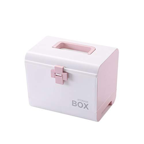 Yxsd First Aid Case medische container met kleine kubus, noodkast opslag pil container doos