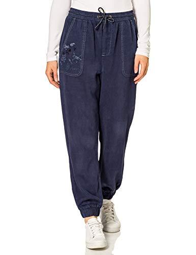 Desigual Pant_YAKARTA Pantalones Informales, Azul, M para Mujer