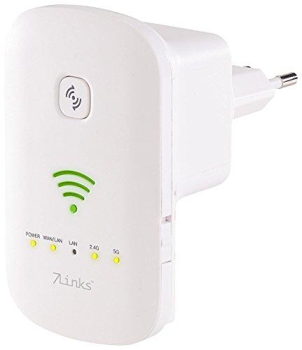 7links Internet Verstärker: Dualband-WLAN-Repeater, Access Point & Router, 1.200 Mbit/s, WPS-Taste (WiFi Booster)