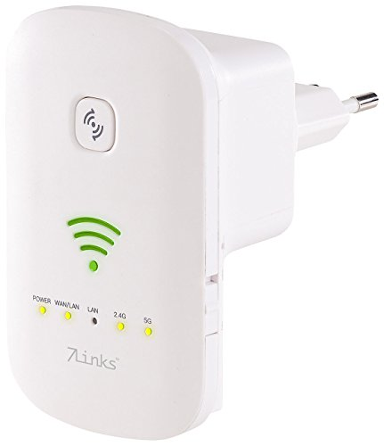 7links WiFi Verstärker: Dualband-WLAN-Repeater, Access Point & Router, 1.200 Mbit/s, WPS-Taste (WLAN Booster)