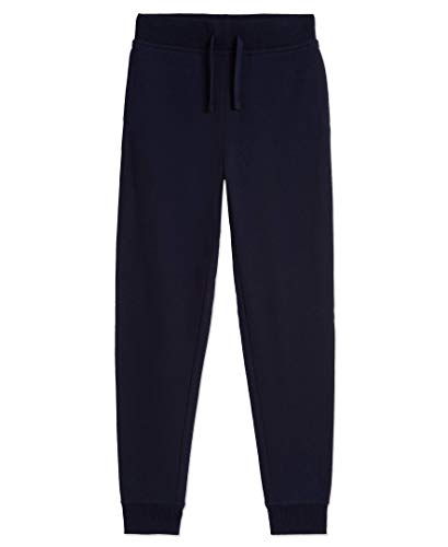 Nautica Girls' Little Fleece Jogger Sweatpants, Navy, 6