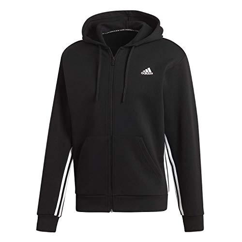 adidas M Mh 3s FZ Sudadera, Hombre, Black/White, XS