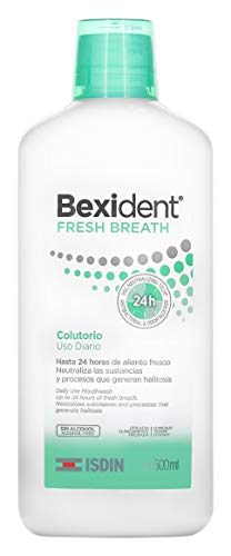 Isdin Bexident Fresh Breath Colutorio Uso Diario, Enjuague Bucal para un Aliento Fresco y Duradero 1 x 500 ml