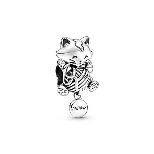 Pandora Colgante de gatito y ovillo de hilo en plata de ley de la colección Pandora Moments 799535C00
