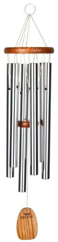 Woodstock Chimes AGMS The Original Guaranteed Musically Tuned Amazing Grace Chime, Medium, Silver