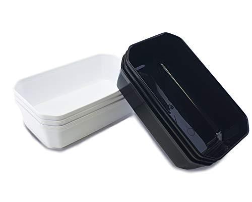 3 x Auslageschale weiß oder schwarz 29x18x8cm Schale Fleischwanne Thekenschalen, Farbe:Schwarz