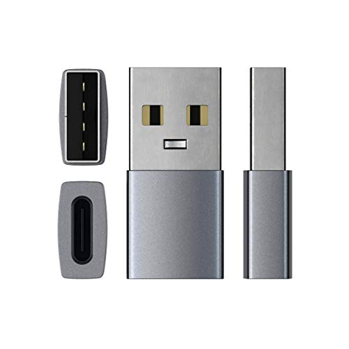 『Satechi Type-A (オス) to Type-C (メス) 変換アダプタ (標準Type-A USBポート付きのiMac, MacBook, PCなど対応) (スペースグレイ)』の3枚目の画像