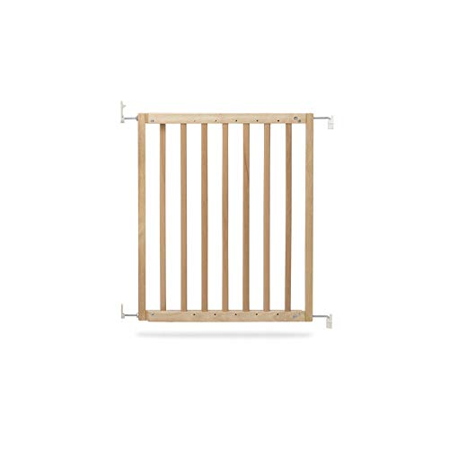 Geuther 2710 NA Wooden Door and Stair Gate 2710, Natural, Screw-on, Barrier-Free, for Openings from 63.5-105.5 cm, Brown, 3.81 kg