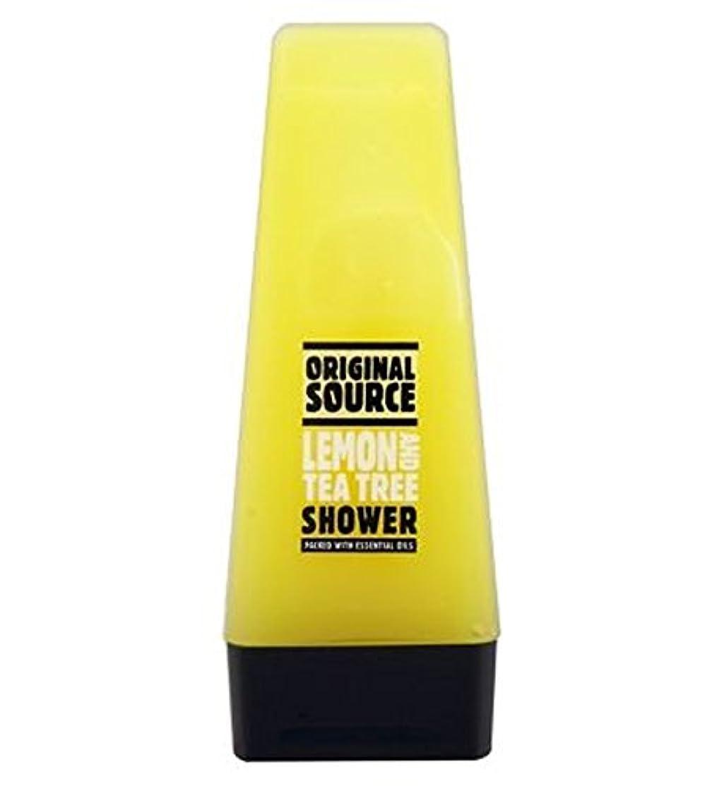 標高本当にスリーブオリジナルのソースレモン&ティーツリーシャワー50ミリリットル (Original Source) (x2) - Original Source Lemon & Tea Tree Shower 50ml (Pack of 2) [並行輸入品]