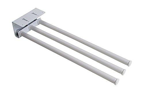 Sanitop-Wingenroth 07144 4 Standard Handtuchhalter dreiarmig ausziehbar, weiß