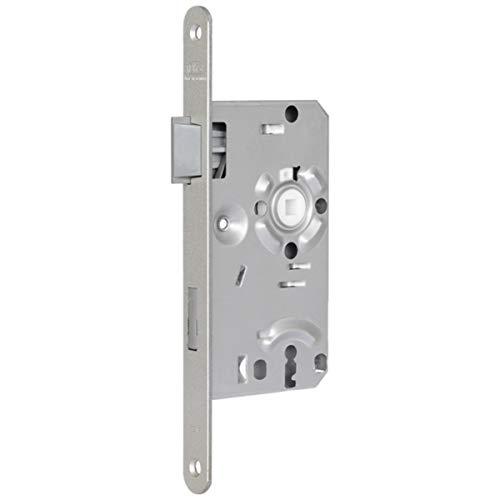 BKS Einsteckschloss 0215 BB-abgerundet-DIN links-20 mm-stahl-nickel-silber