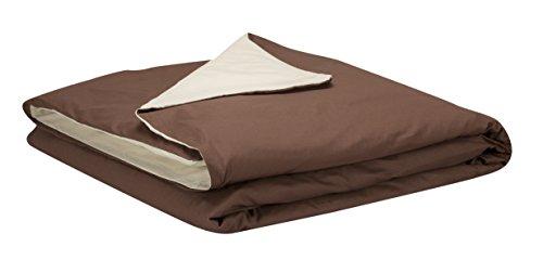 Pikolin Home - Funda nórdica 100% algodón, transpirable, de 140 hilos calidad extra en color marrón claro