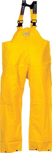 Ocean Rainwear Damen Herren Regenhose Latzhose Modell Budget, Farbe:gelb, Größe:XXL