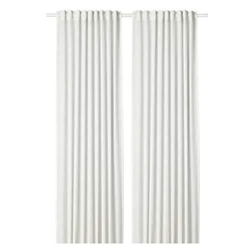 HILJA IKEA - Par de Cortinas (100% poliéster, 145 x 300 cm), Color Blanco