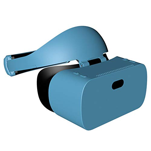 YANJINGYJ 3D VR Brille Virtuelle Realität Kopf montiert Alles in einem Maschine,1440 * 2560 2K Bildschirm,zum 2D 3D VR Video und Spiel,Blau